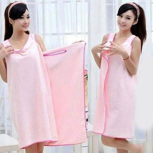 Serviette robe portable