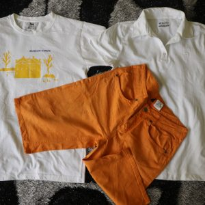 2 tee-short + Culotte orange